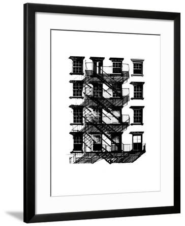 NYC in Pure B&W IX-Jeff Pica-Framed Art Print