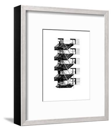 NYC in Pure B&W VIII-Jeff Pica-Framed Art Print
