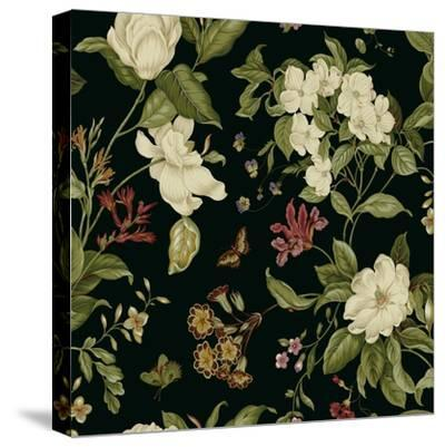 Garden Floral on Black II-Unknown-Stretched Canvas Print