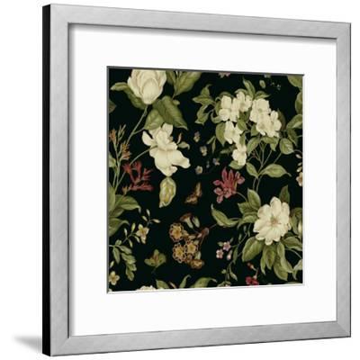 Garden Floral on Black II-Unknown-Framed Art Print
