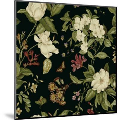 Garden Floral on Black II-Unknown-Mounted Art Print