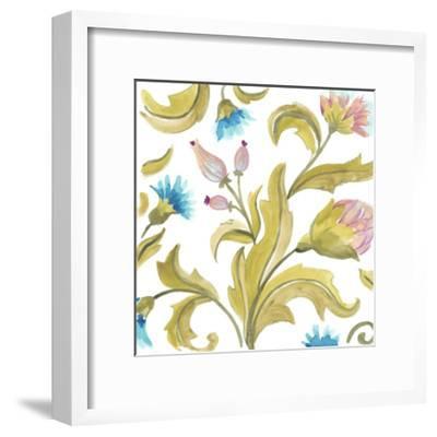 Abbey Floral Tiles IX-June Erica Vess-Framed Art Print