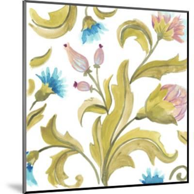 Abbey Floral Tiles IX-June Erica Vess-Mounted Art Print