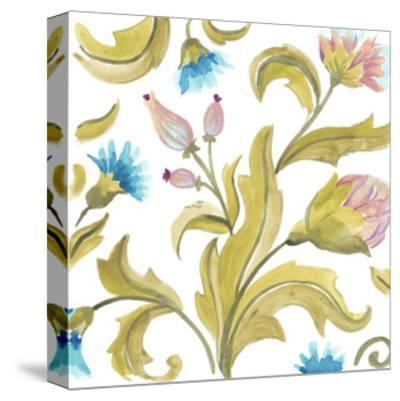 Abbey Floral Tiles IX-June Erica Vess-Stretched Canvas Print