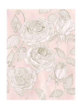 Blooming Roses I-Melissa Wang-Framed Art Print