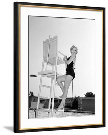 "Marilyn Monroe. ""Monkey Business"" [1952], Directed by Howard Hawks.--Framed Premium Photographic Print"