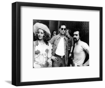 "Jodie Foster; Martin Scorsese; Robert De Niro. ""Taxi Driver"" [1976], Directed by Martin Scorsese.--Framed Photographic Print"