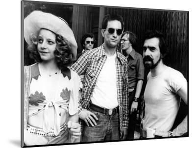"Jodie Foster; Martin Scorsese; Robert De Niro. ""Taxi Driver"" [1976], Directed by Martin Scorsese.--Mounted Photographic Print"