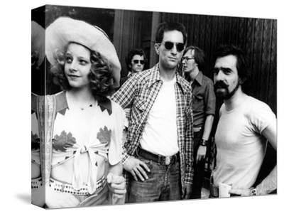 "Jodie Foster; Martin Scorsese; Robert De Niro. ""Taxi Driver"" [1976], Directed by Martin Scorsese.--Stretched Canvas Print"