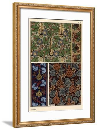 Gourd in fabric and wallpaper patterns.--Framed Giclee Print