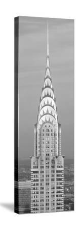 Close up of the Chrysler Building at sunset. It is the view from 42nd Street and 5th Avenue.--Stretched Canvas Print