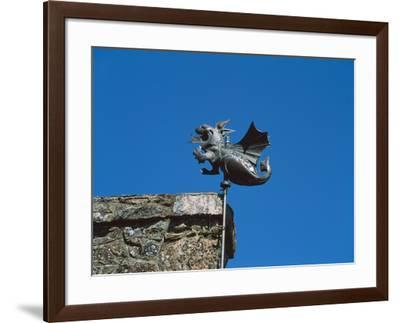 Low angle view of Girouette dragon weather vane--Framed Photographic Print
