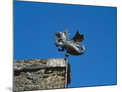 Low angle view of Girouette dragon weather vane--Mounted Photographic Print