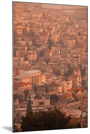 High angle view of a city, Nazareth, Galillee, Israel--Mounted Photographic Print