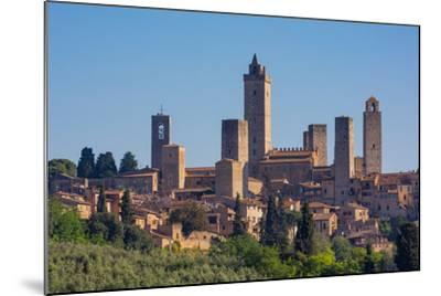 San Gimignano, Siena Province, Tuscany, Italy. The famous towers of the medieval town. The histo...--Mounted Photographic Print