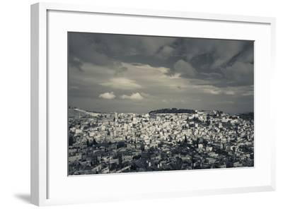 Elevated view of the city from Mount of Olives, Jerusalem, Israel--Framed Photographic Print