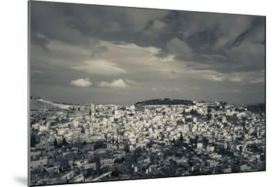 Elevated view of the city from Mount of Olives, Jerusalem, Israel--Mounted Photographic Print