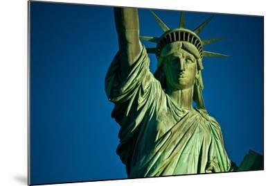 Statue of Liberty against blue sky, New York City, New York State, USA--Mounted Photographic Print