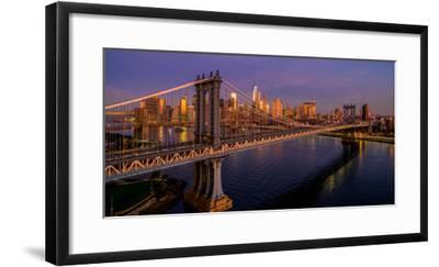 Manhattan Bridge at dawn, New York City, New York State, USA--Framed Photographic Print