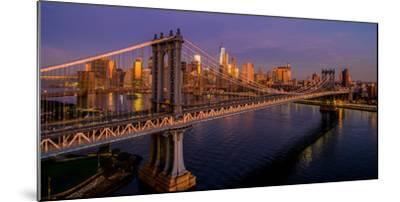 Manhattan Bridge at dawn, New York City, New York State, USA--Mounted Photographic Print