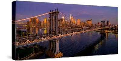 Manhattan Bridge at dawn, New York City, New York State, USA--Stretched Canvas Print