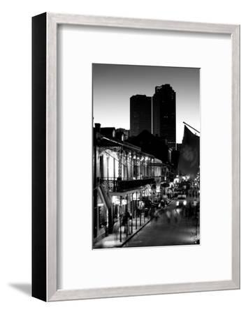 Tourists walking in the street, Bourbon Street, French Quarter, New Orleans, Louisiana, USA--Framed Photographic Print