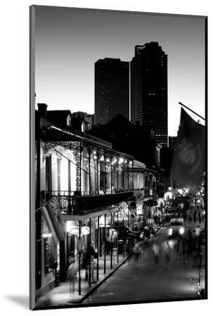 Tourists walking in the street, Bourbon Street, French Quarter, New Orleans, Louisiana, USA--Mounted Photographic Print