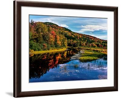 View of small lake north of Saranac Lake, Adirondack Mountains, New York State, USA--Framed Photographic Print