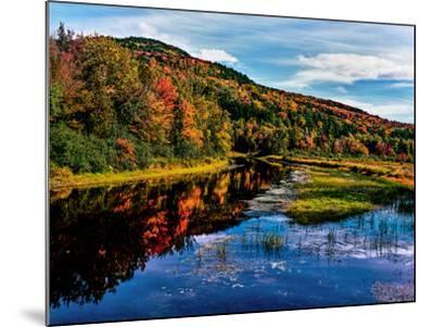 View of small lake north of Saranac Lake, Adirondack Mountains, New York State, USA--Mounted Photographic Print