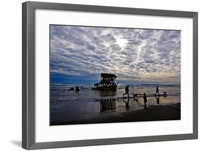 Wreck of the Peter Iredale, Warrenton, Oregon, USA--Framed Photographic Print