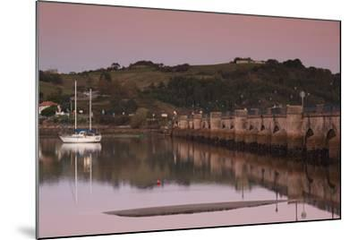 Puente de la Maza bridge at dusk, San Vicente de la Barquera, Cantabria Province, Spain--Mounted Photographic Print