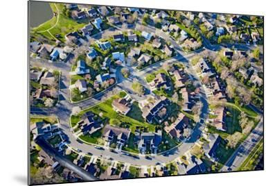 Aerial pattern of residential homes in circle outside of Philadelphia Pennsylvania, New Jersey--Mounted Photographic Print