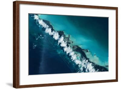 Satellite view of Turks and Caicos Islands--Framed Photographic Print
