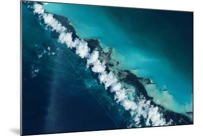 Satellite view of Turks and Caicos Islands--Mounted Photographic Print