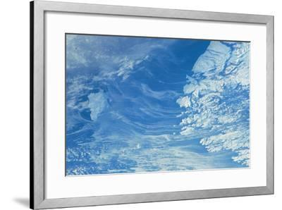 Satellite view of Newfoundland and Labrador with North Atlantic Ocean, Canada--Framed Photographic Print