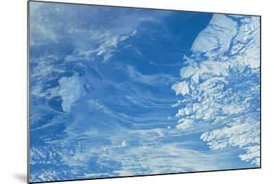 Satellite view of Newfoundland and Labrador with North Atlantic Ocean, Canada--Mounted Photographic Print