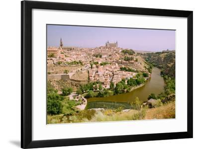 View overlooking the Tagus River and Toledo, Spain--Framed Photographic Print
