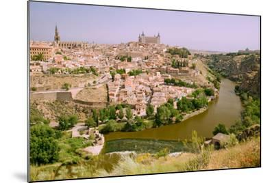View overlooking the Tagus River and Toledo, Spain--Mounted Photographic Print