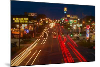 Neon lights along Highway 22 in Central Georgia--Mounted Photographic Print