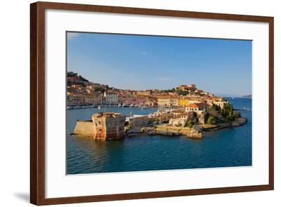 View of Portoferraio, Province of Livorno, on the island of Elba--Framed Photographic Print