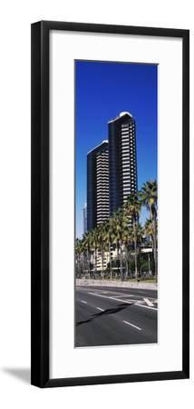 Low angle view of skyscrapers in a city, San Diego, California, USA--Framed Photographic Print