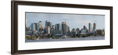 Skylines at the waterfront, Lake Union, Seattle, King County, Washington State, USA--Framed Photographic Print