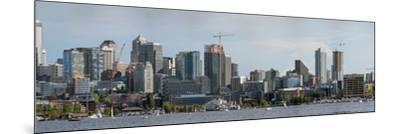 Skylines at the waterfront, Lake Union, Seattle, King County, Washington State, USA--Mounted Photographic Print