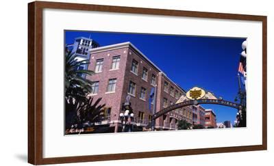 Low angle view of sign, Gaslamp Quarter, San Diego, California, USA--Framed Photographic Print
