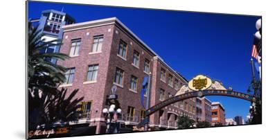 Low angle view of sign, Gaslamp Quarter, San Diego, California, USA--Mounted Photographic Print