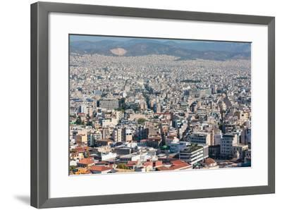 Athens, Attica, Greece. View over Athens from the Acropolis.--Framed Photographic Print