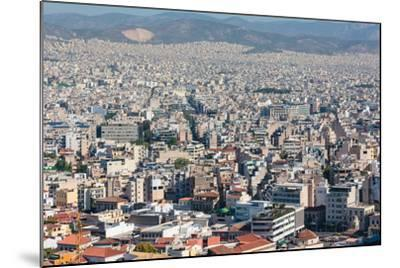 Athens, Attica, Greece. View over Athens from the Acropolis.--Mounted Photographic Print