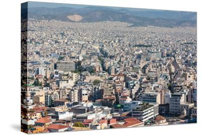 Athens, Attica, Greece. View over Athens from the Acropolis.--Stretched Canvas Print