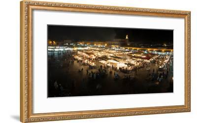 Jemaa el-Fna at night, Marrakesh, Morocco--Framed Photographic Print