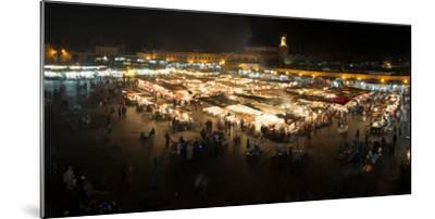 Jemaa el-Fna at night, Marrakesh, Morocco--Mounted Photographic Print